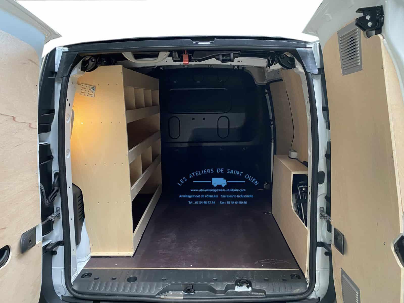 Amenagement Vehicule Utilitaire Habillage Bois Etageres Kangoo Ateliersstouen Ateliers De Saint Ouen