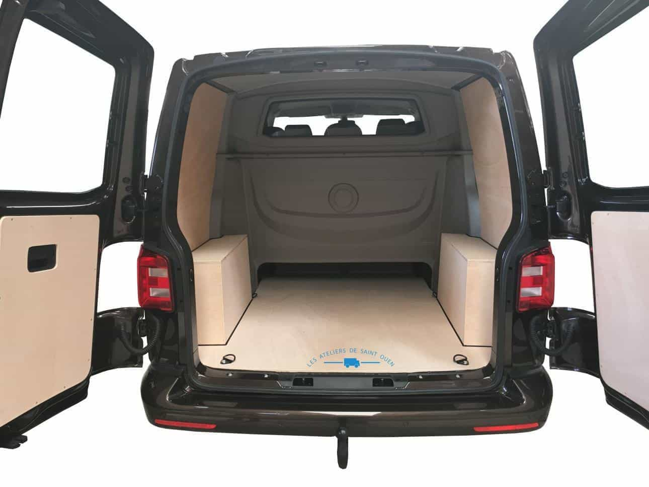 Equipement protection bois pour utilitaire et fourgon for Amenagement interieur vehicule utilitaire